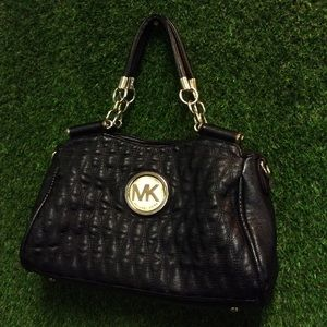 Black Michael Kors Satchel w/ Gold Hardware